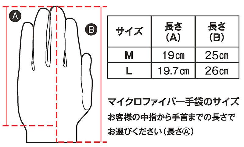 手のサイズに応じた2サイズから